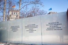 Denkmal zu Sinti und Rom-Leuten in Berlin Lizenzfreie Stockfotografie