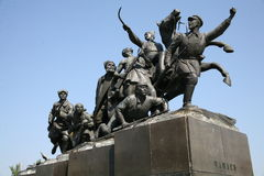 Denkmal zu Vasily Chapaev stockfotografie