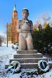 Denkmal zum Held in Savonlinna, Finnland Lizenzfreie Stockfotos