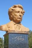 Denkmal zum russischen Dichter Alexander Pushkin Stockbilder