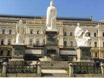 Denkmal zur Prinzessin Olga in Kiew lizenzfreie stockbilder