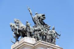 Denkmal zur Unabhängigkeit von Brasilien lizenzfreies stockbild