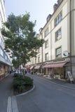 Denkmalstrasse gata, Lucern, Schweiz Arkivfoton