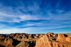 Denkmaltal Buttes mit Wolkenformfarbton Lizenzfreies Stockbild