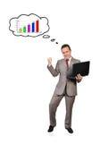 Denkt an Geschäftswachstum Lizenzfreies Stockbild