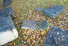 Denkwürdige Steinplatten Heiliges und Troitsk Danilov Kloster Pereslavl-Zalessky Russland Lizenzfreie Stockbilder