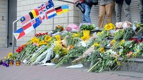 Denkwürdiges Denkmal, Botschaft der Niederlande (Kiew), stock video