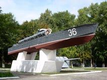 Denkwürdiges Zeichen Torpedoboot Stockfoto