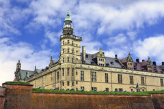 Denmark. Kronborg Castle in the background of blue sky Royalty Free Stock Images