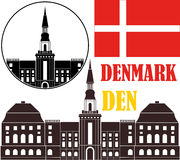denmark vektor illustrationer