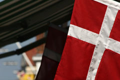 Denmark. Danish flag stock photography