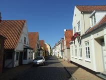2008. Denmark. Aabenraa. Slotsgade. The photo shows, Slotsgade Castle street the old street leading to Brundlund Castle Stock Photos