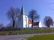 Denmark aero island church Royalty Free Stock Image