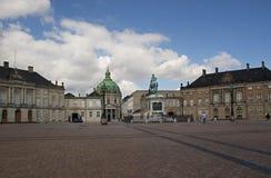 Denmark. The Amalienborg Palace in Copenhagen. Royalty Free Stock Photography