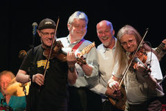Denmark april 2008: Fairport Convention on stage Royalty Free Stock Images