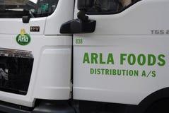 DENMARK_ARLA dystrybucje żywności Zdjęcia Stock