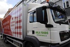 DENMARK_ARLA dystrybucje żywności Zdjęcie Stock