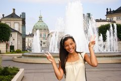 Denmark Asian woman tourist Royalty Free Stock Photo