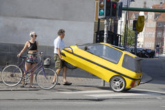 DENMARK_AUTO PROBLEM. COPENHAGEN /DENMARK-Male with small car problem           28 July  2014  (Photo by Francis  Dean/Deanpictures Stock Photography