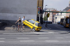 DENMARK_AUTO PROBLEM. COPENHAGEN /DENMARK-Male with small car problem           28 July  2014  (Photo by Francis  Dean/Deanpictures Royalty Free Stock Images