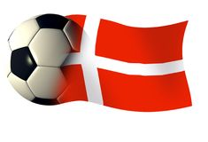 Denmark ball flag. World cup illustration Royalty Free Stock Photography