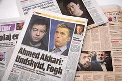 DENMARK_big przeprosiny duński PM Zdjęcia Stock