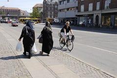 DENMARK_BIKER和移民 免版税库存图片