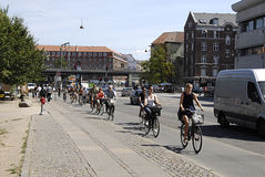 DENMARK_BIKER AND IMMIGRANTS Stock Photography