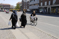 DENMARK_BIKER AND IMMIGRANTS Royalty Free Stock Image
