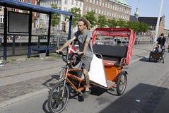 DENMARK_BIKERS IN COPENHAGEN Stock Image