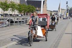 DENMARK_BIKERS IN COPENHAGEN Royalty Free Stock Photography