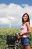 Denmark: Biking in the countryside Stock Image