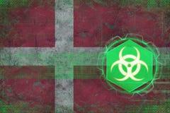 Denmark biohazard threat. Bio threat concept. Stock Photo