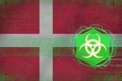 Denmark biohazard threat. Bio threat concept. Stock Image