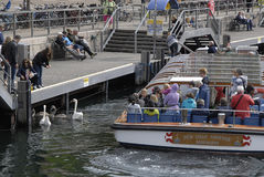 DENMARK_BOAT TOURISTS Stock Photography