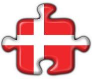 Denmark button flag puzzle shape Royalty Free Stock Photos