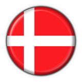 Denmark button flag round shape Stock Photography