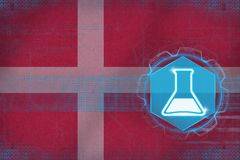 Denmark chemistry. Chemical production concept. Stock Images