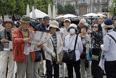 DENMARK_CHINESES TOURISTS Stock Photos