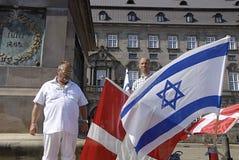 DENMARK_CHRISTIANS POUR L'ISRAËL Image libre de droits