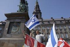DENMARK_CHRISTIANS POUR L'ISRAËL Images libres de droits