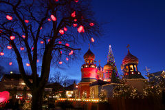 Denmark: Christmas atmosphere in Tivoli Royalty Free Stock Photo