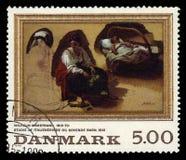 Painting by danish painter Wilhelm Marstrand stock photos