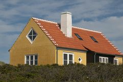 Denmark colored houses Stock Photography