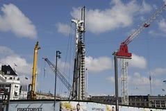 DENMARK_CONSTRUCTION站点 免版税库存图片