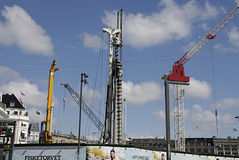 DENMARK_CONSTRUCTION SITE Royalty Free Stock Image