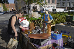 DENMARK_CONSUMERS  AT FLEA MARKET Royalty Free Stock Photo