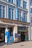 Denmark. Copenhagen. COPENHAGEN, DENMARK - APRIL 13, 2010: Guinness World Records Museum. Near the entrance is sculpture of the tallest man in the world Robert Stock Photography