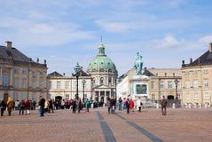 Denmark. Copenhagen. Amalienborg Palace Royalty Free Stock Image