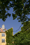 Denmark - Copenhagen - Building under the trees Stock Photos